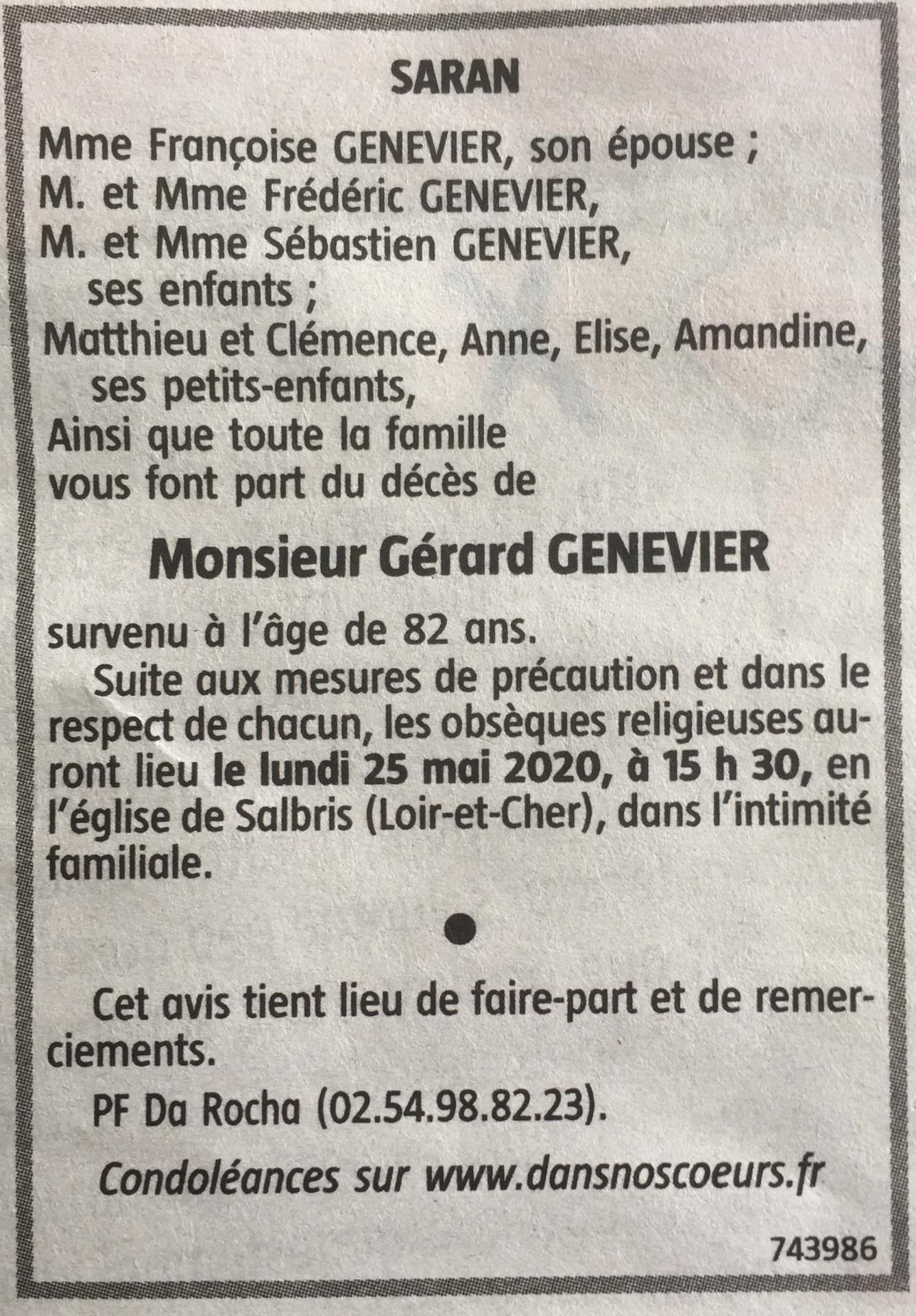 20200525 avis de deces de m gerard genevier